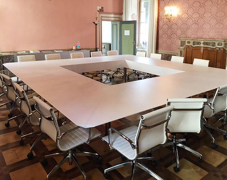Interno della sede dell'Ordine degli Architetti di Brescia