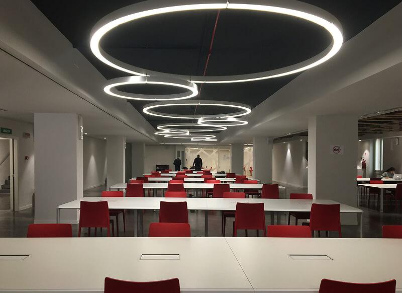 Design degli interni per Sala Lettura Umberto Eco
